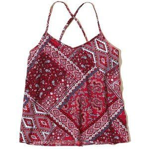New Hollister BOHO Red Pattern Cami
